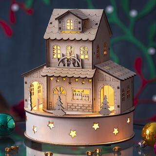 Hrajúci domček so svetielkami