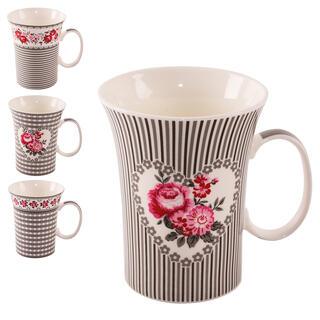 Porcelánové hrnčeky ROSE 360 ml 4 ks