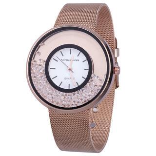 Dámske ružové hodinky s kamienkami