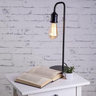 Stolná lampa VINTAGE kovová, čierna