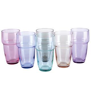Sada 6 farebných pohárov GALETA