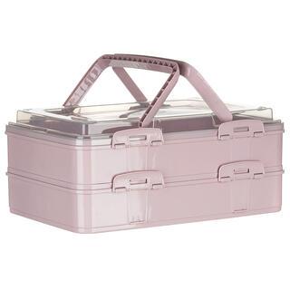 Partybox dvojposchodový ružový