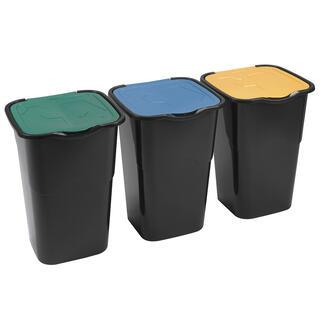 Koše na triedený odpad, súprava 3 ks