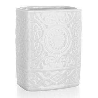 Kelímok na kefky keramický biely