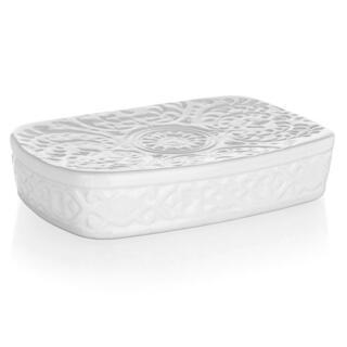 Miska na mydlo keramická biela
