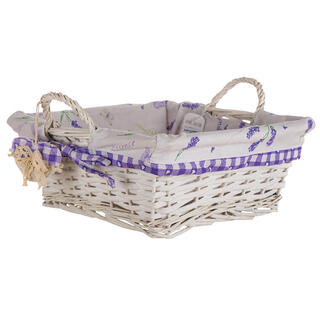 Prútený košík s levanduľou štvorcový