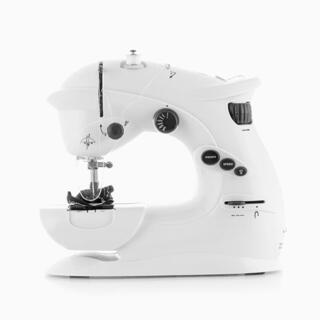 Mini šijací stroj biely