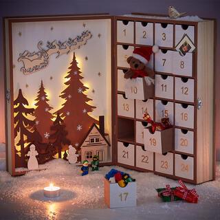 Veľký adventný kalendár zásuvky