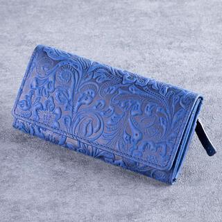 Dámska kožená peňaženka modrá