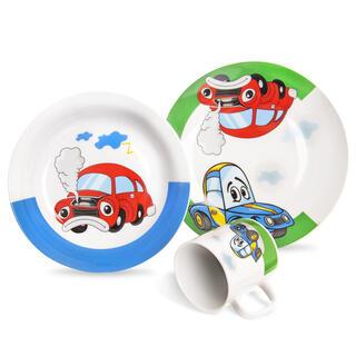 Detská porcelánová jedálenská súprava AUTO 3 ks
