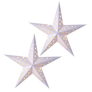 Papierová vianočná hviezda s LED, sada 2 ks