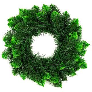 Umelý vianočný veniec, zelené špičky, pr. 50 cm