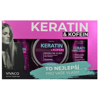 Darčeková kazeta kozmetiky s keratínom a kofeínom dámska