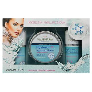 Darčeková kazeta kozmetiky s kyselinou hyalurónovou a spevňujúcim mliekom
