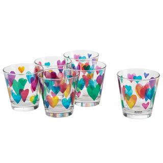 Sada pohárov LOVE RAINBOW 250 ml 6 ks