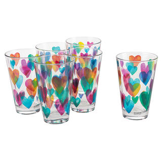 Sada pohárov LOVE RAINBOW 310 ml 6 ks