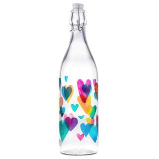 Fľaša s patentným uzáverom LOVE RAINBOW 1 l