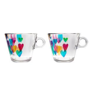Sada kávových hrnčekov LOVE RAINBOW 280 ml 2 ks