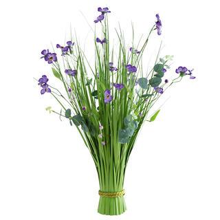 Okrasná tráva zväzok, fialové kvety 70 cm