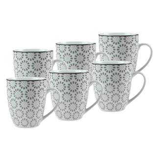 Sada porcelánových hrnčekov ORNATE 380 ml 6 ks