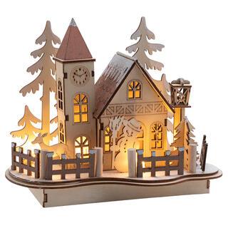 Zimná dedinka s LED