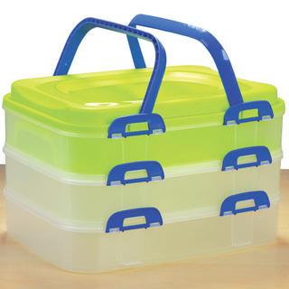 Plastový prenosný box na potraviny 3 poschodia