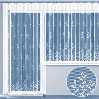 Hotová žakárová záclona JUSTÝNA - balkónový komplet