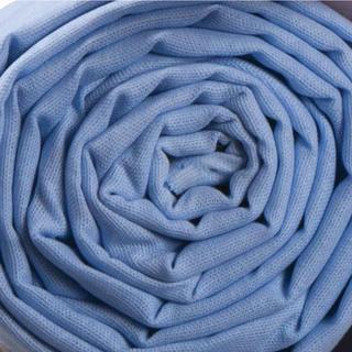Bavlnené plátené prestieradlo 140 x 230 cm modrá