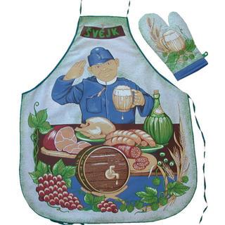 Kuchynská zástera s chňapkou - Švejk