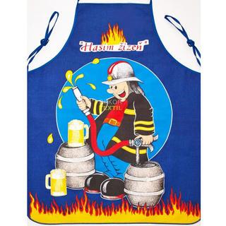 Kuchynská zástera - hasič modrá
