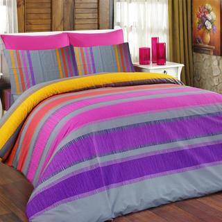 Bavlnené posteľné obliečky Susan fialové