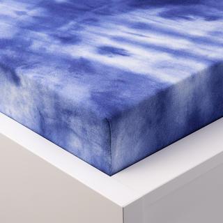 Batikové napínacie prestieradlo froté modré