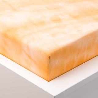 Batikové napínacie prestieradlo froté oranžové