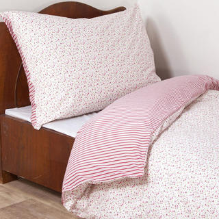 Bavlnené posteľné obliečky ŽANETA červené, štandardná dĺžka