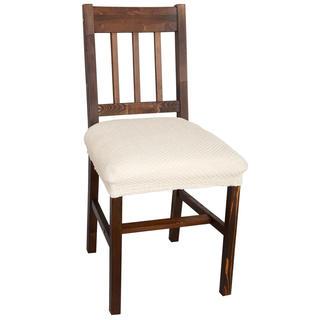 Multielastické poťahy Carla smotanové, stoličky 2 ks 40 x 40 cm