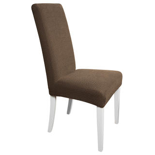 Multielastické poťahy Carla hnedé, stoličky s operadlom 2 ks 40 x 40 x 60 cm