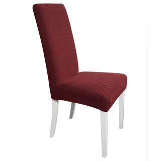 Multielastické poťahy CARLA bordó stoličky s operadlom 2 ks 40 x 40 x 60 cm