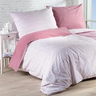 Bavlnené posteľné obliečky ŽANETA červené, predĺžená dĺžka