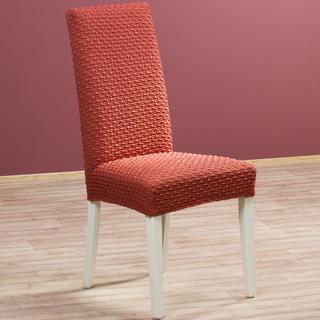 Multielastické poťahy Rebeca tehlové stoličky s operadlom 2 ks 40 x 40 x 60 cm