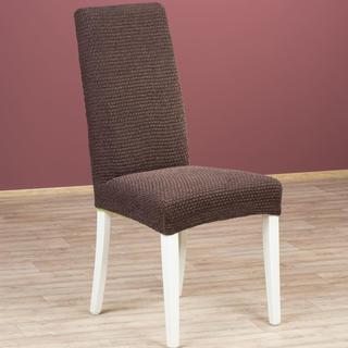 Luxusné multielastické poťahy ZAFIRO čokoládové stoličky s operadlom 2 ks 40 x 40 x 60 cm