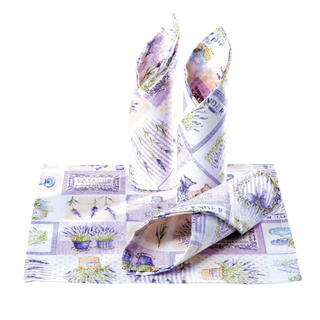 Prestieranie patchwork Levanduľa fialové 4 ks