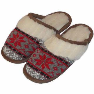 Dámske domáce papuče z ovčej vlny červené