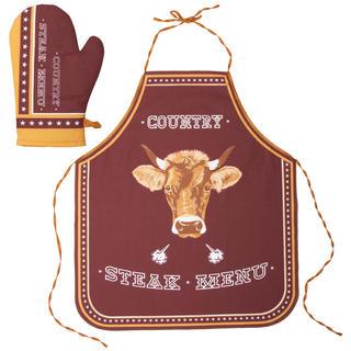 Kuchynská zástera a chňapka Steak Menu