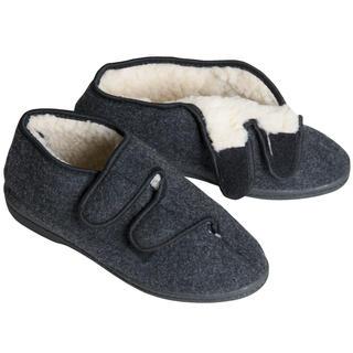 Domáca obuv papuče dôchodky šedé