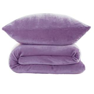 Posteľné obliečky z mikroplyšu fialové