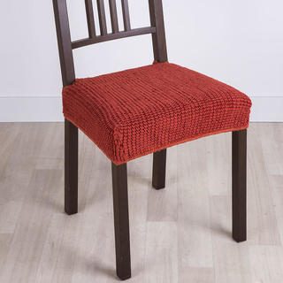 Super strečové poťahy GLAMOUR tehlová, stoličky 2 ks 40 x 40 cm