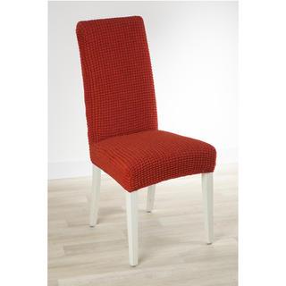 Super strečové poťahy GLAMOUR tehlová stoličky s operadlom 2 ks 40 x 40 x 60 cm