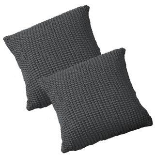 Super strečové poťahy GLAMOUR šedá obliečky na vankúšiky 2 ks (40 x 40 cm)