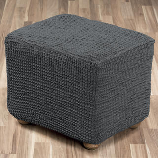 Super strečové poťahy GLAMOUR šedá taburetka (45 x 45 x 45 cm)