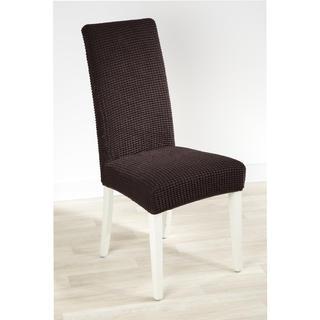 Super strečové poťahy GLAMOUR hnedá, stoličky s operadlom 2 ks 40 x 40 x 60 cm